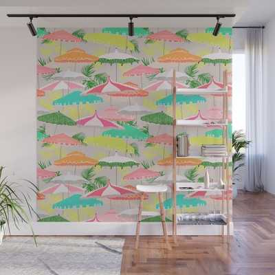 Palm Springs - poolside Wall Mural - Society6