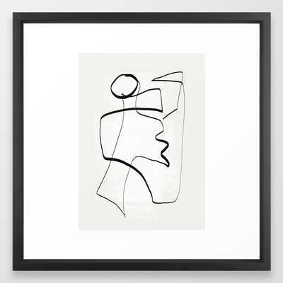 """Abstract line art 6 Framed Art Print, FRAME Vector Black, Medium (gallery) - 22"""" X 22"""" - Society6"""