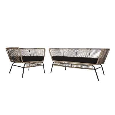 Harvey 2 Piece Standard Seating Group with Cushions - Wayfair