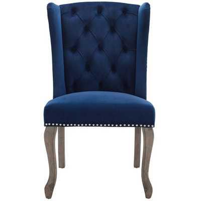 Navy Mccafferty Tufted Velvet Upholstered Side Dining Chair - Wayfair