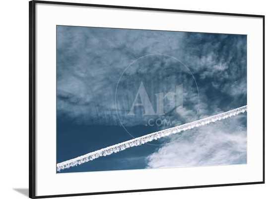 Aeroplane Contrail - Ronda Li Black Frame - art.com