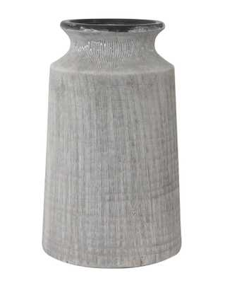 WASHED CHARCOAL FLOWER VASE - McGee & Co.