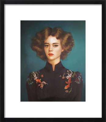 """Comet and Oranda - 19x22"""" - Black Wood Frame with Matte - Artfully Walls"""