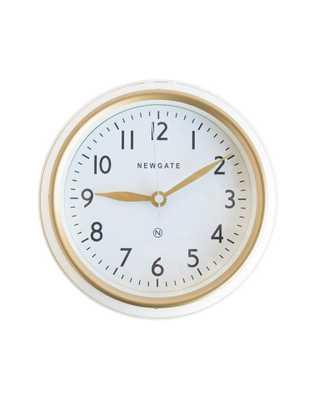 MINI NORFOLK LINEN WHITE WALL CLOCK - McGee & Co.