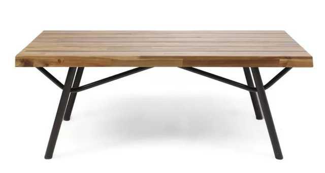 LinchAcacia Wood Coffee Table - Wayfair