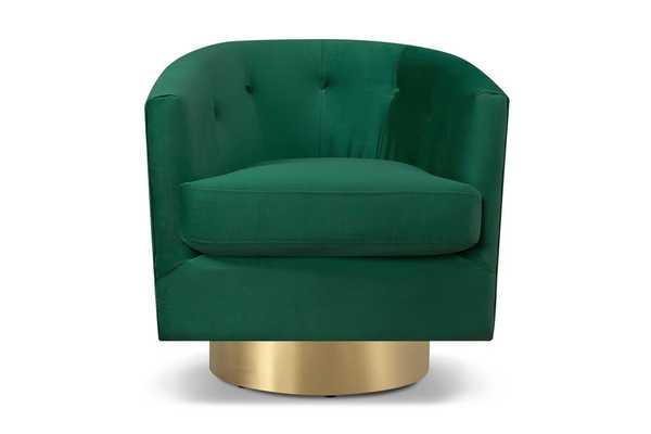 Harlow Swivel Chair EMERALD - Apt2B