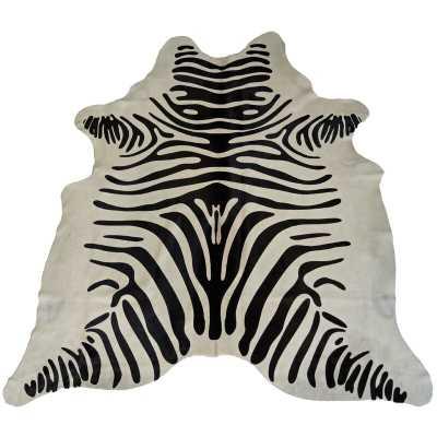 Grubb Cowhides Printed Zebra Black/White Area Rug - Wayfair