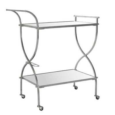 Branner Bar Cart- Silver - Wayfair