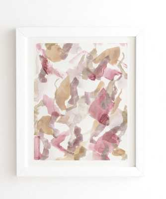 WHITE FRAMED WALL ART ABSTRACT M10  BY GEORGIANA PARASCHIV - Wander Print Co.