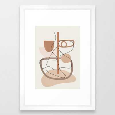 Abstract Line Movement I Framed Art Print - Society6