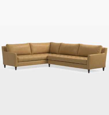 Hastings Sectional Leather Sofa - Right Arm - Rejuvenation