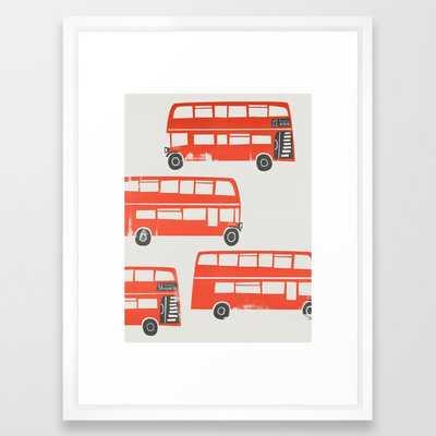 London Double Decker Red Bus Framed Art Print - Society6