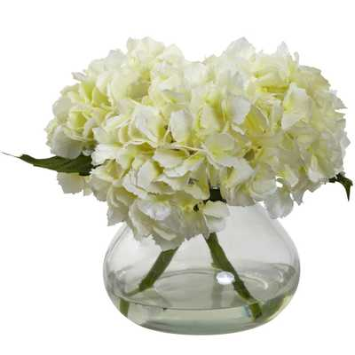 Blooming Hydrangea w/Vase - Fiddle + Bloom