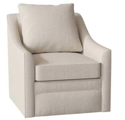 Quincy Swivel Armchair- Trixie Linen - AllModern