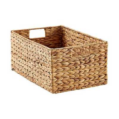 Medium Water Hyacinth Bin Natural - containerstore.com