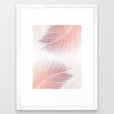 Palm leaf synchronicity - rose gold Framed Art Print - Society6