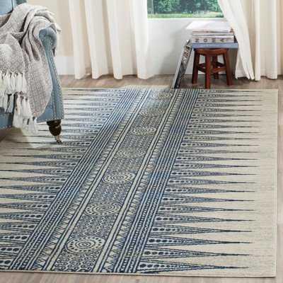 Elson Ivory/Blue Area Rug, 8'x10' - Wayfair
