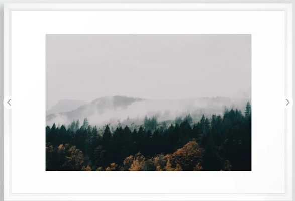 Forest Fog Framed Art Print - Society6