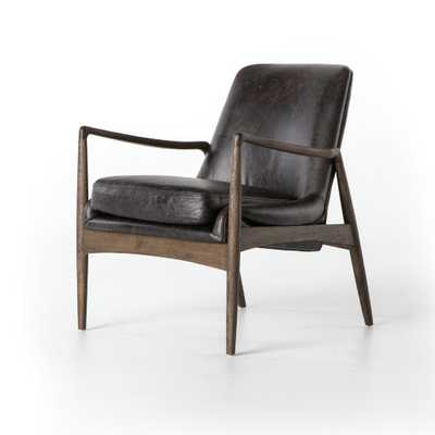 Aidan Leather Chair in Durango Smoke by BD Studio - Burke Decor