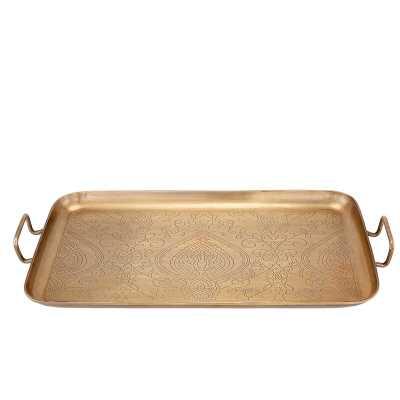 Rectangular Etched Steel Tray - Wayfair