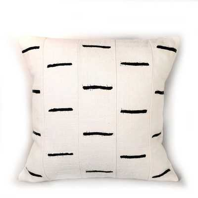 Tonga Pillow Cover - Black Dashes - West Elm