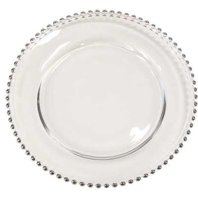 """Mint Pantry Arber Modern Beaded Rim 13"""" Charger in Silver - Wayfair"""