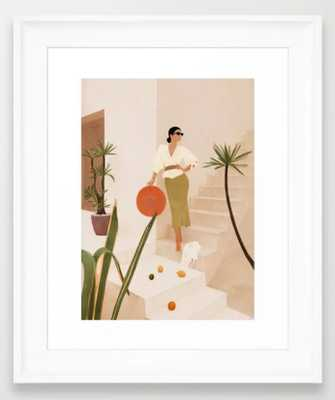 """Wonders of the New Day Framed Art Print - X Small 10"""" x 12""""; Scoop White - Society6"""