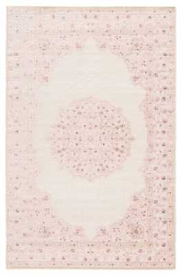 """Malo Medallion Pink/ White Area Rug (7'6"""" X 9'6"""") - Collective Weavers"""