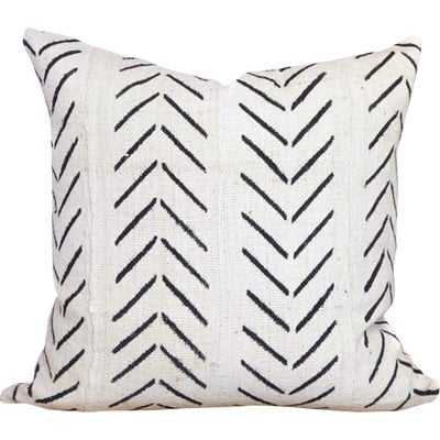 Chevron Arrow Print African Mud Cloth Pillow Cover - Wayfair