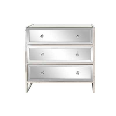 Silver 3-Drawer Mirrored Console - Home Depot