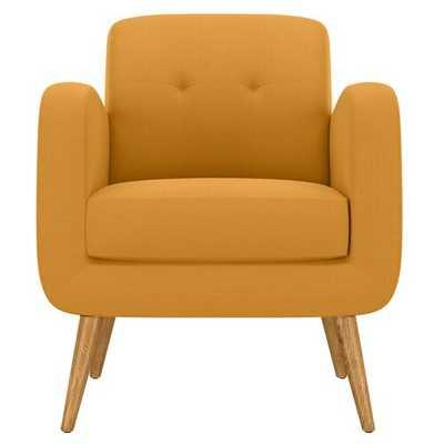 Valmy Lounge Chair- Mustard Yellow Linen - Wayfair