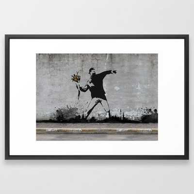 Banksy - Vector Black - Society6