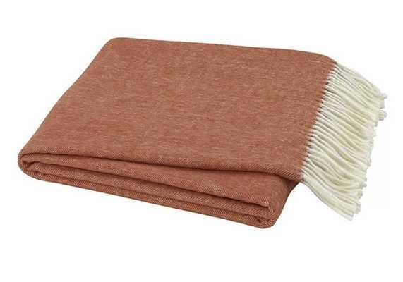 Kelson Herringbone Throw Blanket - Wayfair