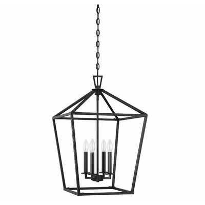 Israel 4-Light Lantern Geometric Pendant - Wayfair