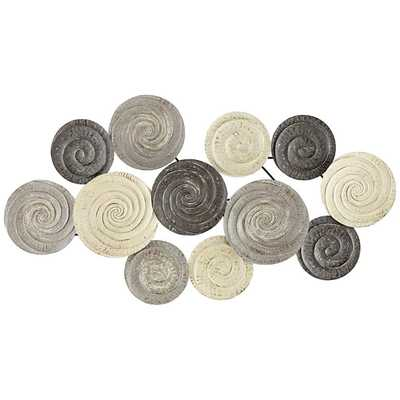 "Spiral Circles 49 1/2"" Wide Painted Metal Wall Art - Lamps Plus"