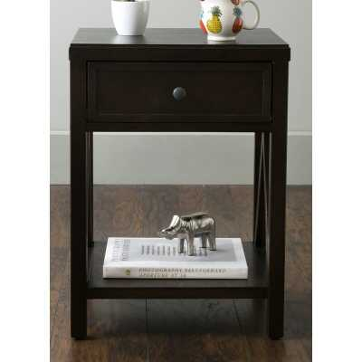 Nealon End Table with Storage - Brown - Wayfair