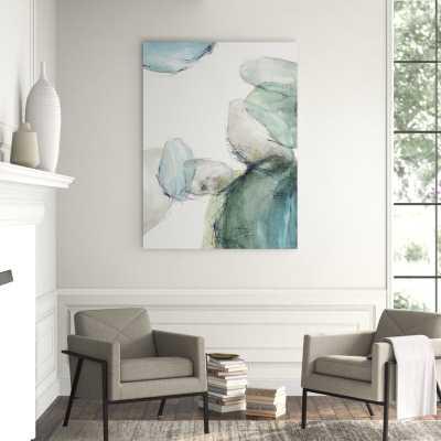 'Blue Pebbles II' Print-41x30-Image Gel Brush - Perigold