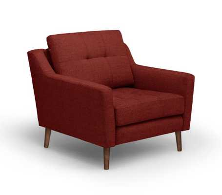 Armchair in Brick Red - Burrow