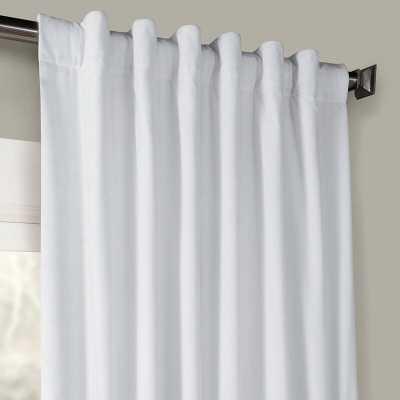 Livia Riverton Velvet Solid Color Room Darkening Thermal Rod Pocket Curtains / Drapes - Wayfair