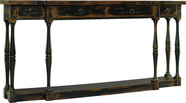 Sanctuary Console Table - Ebony - Perigold