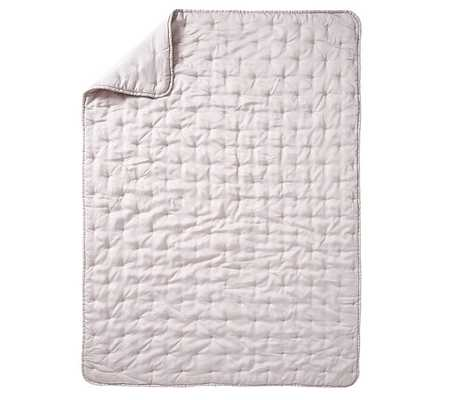 Amelia Tencel(R)  Toddler Quilt, Dusty Lavender - Pottery Barn Kids