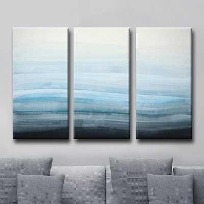 'Coastal Mist' 3 Piece Painting Print on Wrapped Canvas Set - Wayfair
