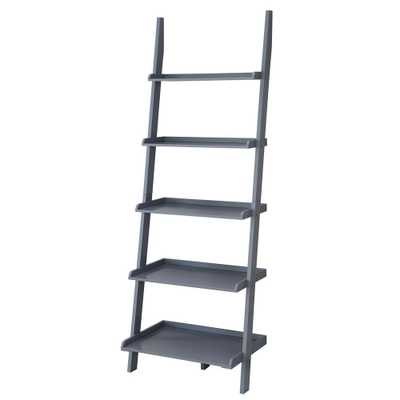 American Heritage Gray Ladder Bookcase - Home Depot
