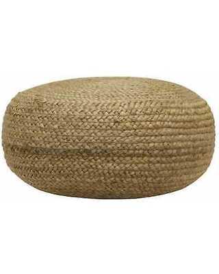 Round Woven Pouf - Hayneedle