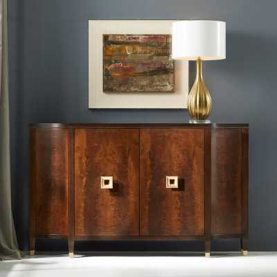 Modern History Home Barcelona Concave Accent Cabinet - Perigold