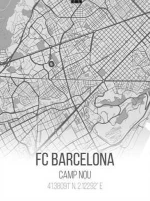 FC Barcelona | Unique Barcelona Camp Nou Location City Map Poster Great FCB Gift - Etsy