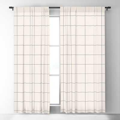 windowpane plaid Blackout Curtain (Set of 2) - Society6