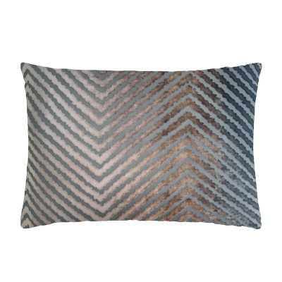 Kevin O'Brien Studio Velvet Chevron Lumbar Pillow - Perigold