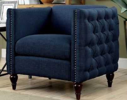 Furniture of America Jada Tufted Accent Chair - Hayneedle