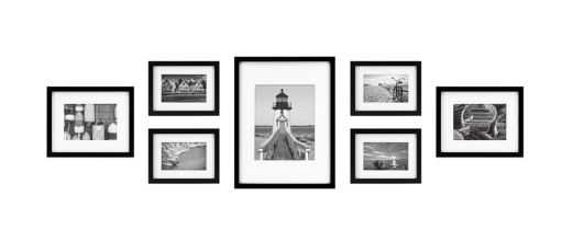 7-Piece Gallery Picture Frame Web in Black - Bed Bath & Beyond